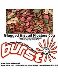 Dog Biscuit Carp superficie cebo sabor con pulpo sabor 50g, diseño de amapola