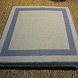 Sedie sedie cuscino,Cuscino in cotone ispessita cuscino per ufficio pavimento tatami bovindo studente sgabello divano panca cuscino liscio seduta sedia pastiglie con legami-I 41x41cm(16x16inch)