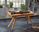 Wolf Möbel Bürotisch Shan Sheesham Shina 150x60 cm Schublade Massivholz Schreibtisch
