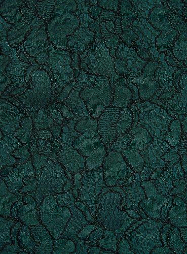 oodji Ultra Femme Robe Coupe Cintrée en Dentelle Vert (6C00L)