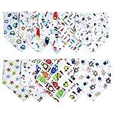 Labebe Baby Lätzchen/Baby Bandanas/Baby Halstuch/Spucktücher Baby/Baby Dreiecktücher/Lätzchen Frottee/Sabbertuch Baby/dreieckstuch kinder mit Druckknöpfen, 10er-Pack gemischt für Neugeborene/Jungen/Mädchen, Unisex, 100% Baumwolle (D)