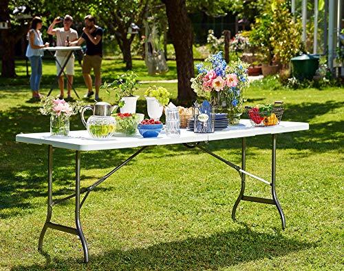 Tisch klappbar Kunststoff weiß - 2