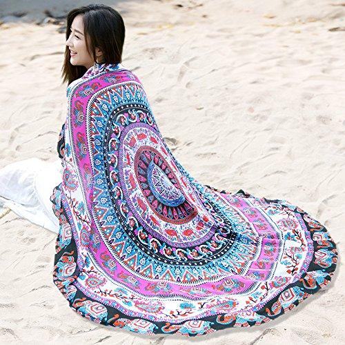 ZHANGYONG Chiffon Bufanda Bufanda Chiffon Ronda Mujeres y Señoras Estilo Folk Sun...