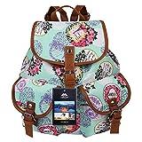 Vbiger Daypacks Canvas Rucksack Damen Vintage Rucksack Backpack für Campus und Reisen mit Großer Kapazität