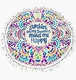 100% coton ronds de plage Tapis de pique-nique Couverture Tassel Couvre-lit Serviette hippie Tapisserie