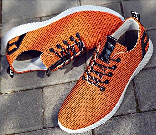 Novos Amarelo Estilo ocasional De Outdoor Sapatos Coco Verão Moda Sapatos Coreanos Homens Respirável Confortáveis Malha 6nqTWZr6g