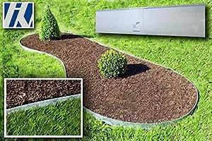 Rasenkante, Beeteinfassung und Wegbegrenzung Metall feuerverzinkt 120x13,5cm 10er Set (11,40m)