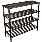 OMADA OHC - 25124 Brown Wooden 4 Tier Fo...