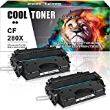 Cool Toner 2-Pack 6900 Seiten Kompatibel für HP 80X CF280X 80A CF280A für HP Laserjet Pro 400 M401DN M401DNE HP Laserjet Pro 400 MFP M425DN M425DW, HP M401DN M401D M401DW, 80A CF280A CF280X 80X Toner