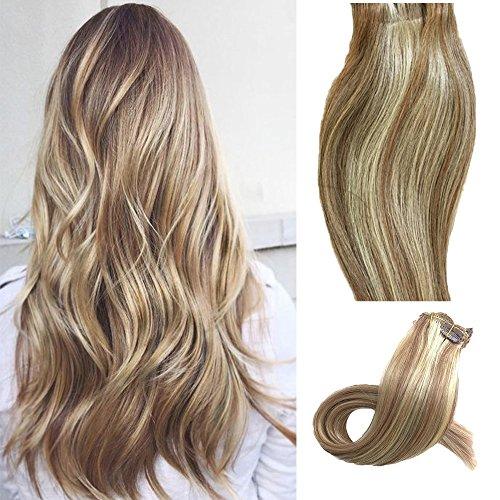 Clip extensiones cabello Extensiones verdaderas pelo