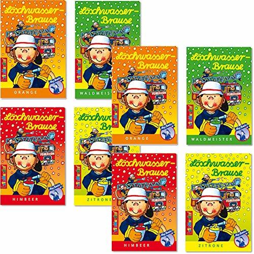 Preisvergleich Produktbild 8 x * FEUERWEHR BRAUSE * Mitgebsel Kindergeburtstag Süßigkeiten mit 4 Geschmäcker Hersteller aus Deutschland Kinder lieben diese Brause