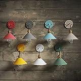 LWYJRBD Wandleuchte Wandlampe/Land industrielle Eisenwandlampe Wandleuchte LED mit 7 Farben für Schlafzimmer Esszimmer Restaurant Café Shop Gang, Hellgrau