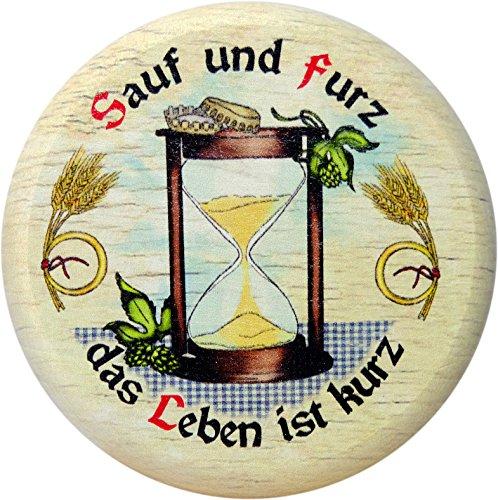 Kaltner Präsente Geschenkidee - Insektenschutz für Gläser und Getränke aus echtem Holz / Bier...