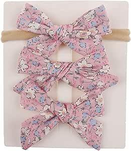 Butterme 7 St/ück Niedlich Baby M/ädchen Kleinkind Baumwolle Turban Haarband Polka Punkt Knoten Kreuz Stirnb/änder Kopfbedeckungen