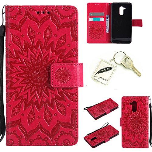 Preisvergleich Produktbild Silikonsoftshell PU Hülle für Huawei Honor 5C (5,2 Zoll) Tasche Schutz Hülle Case Cover Etui Strass Schutz schutzhülle Bumper Schale Silicone case+Exquisite key chain X1#KD (4)