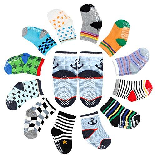 pack Baby ABS Socken, Anti Rutsch Socken für 12-36 Monate Baby Mädchen und jungen ()