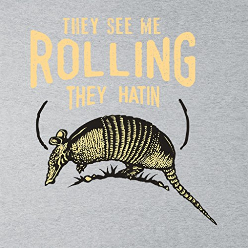 Cloud City 7 They See Me Rollin Armadillo Womens Vest Heather Grey