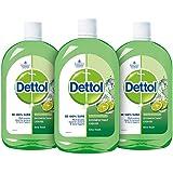Dettol Liquid Disinfectant Cleaner for Home, Lime Fresh, 200 ml (Pack of 3)