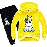 Silver Basic Chándal de Manga Larga para Niñas Sudadera con Capucha y Pantalones de Unicornio Conjunto de 2 Piezas Sudadera p