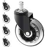Herrman 7,6 cm grote zware verplicht PU rubber Caster steel Grootte: 10 mm x 22 mm (3/20,3 cm X 7/20,3 cm) (Caster sterrenvor