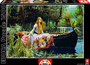 Educa - 15164 - Puzzle Classique - 1500 The Lady Of Shalott