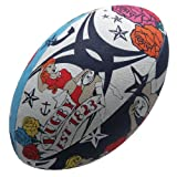 Gilbert Ballon de Rugby Randoms Tatouage Multicolore Tattoo Size 5
