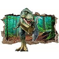Sticker Mural Dinosaure 3D,Stickers Muraux 3D Dinosaure,Stickers Muraux Enfants Garcon Dinosaure,Poster Dinosaure 3D…