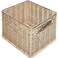 Schildmeyer Flechtkorb Aufbewahrungsbox, Metall, Natur, 11.5 x 14.5 x 12 cm preisvergleich bei billige-tabletten.eu