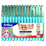 #5: WRITEAWAY Artline Yoodle Fine Pen Assorted Colours (Combo Of 15) Pens 0.4 mm Tip
