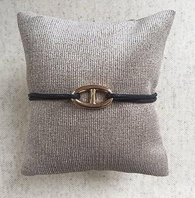 Bracelet maille marine en Plaqué Or sur Cordon