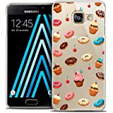 Caseink - Coque Housse Etui Samsung Galaxy A3 2016 (A310) [Crystal HD Collection Foodie Design Donuts - Rigide - Ultra Fin - Imprimé en France]