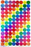 350 FUN REWARD STICKERS CREATIVE BRIGHT COLOURFUL SPARKLY CHART SIZE COLLECTING SMILEY FACE STICKERS BY WISH LIST FOR YOU