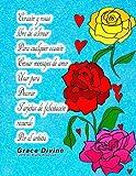 Corazón y rosas libro de colorear Para cualquier ocasión Enviar mensajes de amor Usar para Decorar Tarjetas de felicitación recuerdo Por el artista Grace Divine