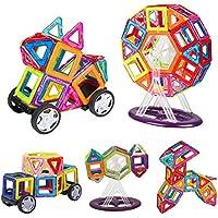 INTEY CostruzioniMagneticheBambini, Blocchi Costurzioni Magnetici DIY Magnetici Giocattoli Giocattoli Standard set con la rotella
