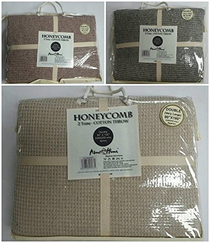 double-large-90-x-100-honeycomb-waffle-sofa-settee-chair-bed-throw-100-cotton-two-tone-3-colors-doub