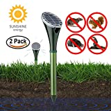 ZFITEI Solar Powered Pest and Animal Repellent, Get Rid of Snake Mole Gophers