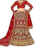 Aasva Women's Net Lehenga Choli (NMMJA7006B_Red_Free Size)