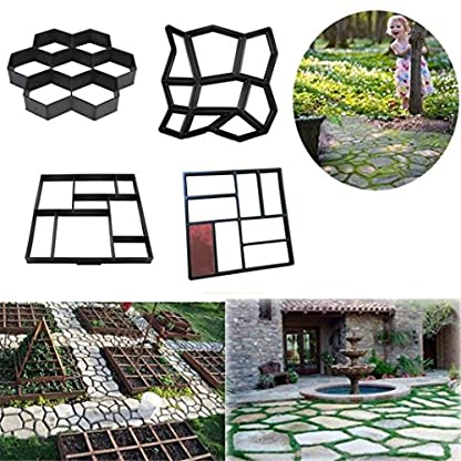 Jardín Pavimentación Molde,Zolimx Gardening 8/9 Grids Paving Concrete Pavement For Garden Patio Path Decor (D)