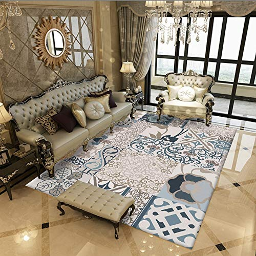 Mylhope Modernen Teppiche Vintage Persische Floral Oriental Distressed Shabby Chic Traditionellen Teppich Für Wohnzimmer Esszimmer, F,180x280cm