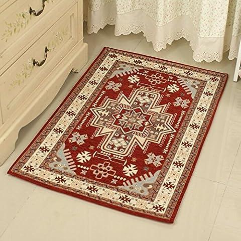 Continentale americano persiano classico soggiorno tavolino salotto Tappeti zerbini , el nawawy / red , 40*60cm