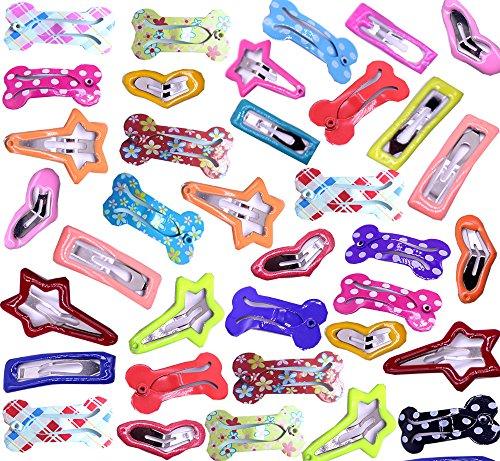 Artikelbild: 50bunte Haarspangen Haar clip für Hunde Gerät für Hunde Pferdeschwanz flequillos Geschenk Patienten CLINICA Veterinaria und Geschäfte Haustiere 50Stück