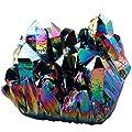 Shanxing Irregulär Natürlich Bergkristall Titanium Überzogen Edelstein Kristall Quarz Drusen Cluster Dekoration von Shanxing auf Du und dein Garten