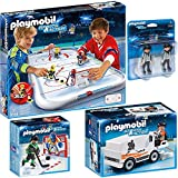 PLAYMOBIL® Sports & Action Eishockey 4er Set 5594 6191 6192 6193 Eishockey-Arena + Schiedsrichter + Tortraining + Eisbearbeitungsmaschine