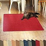 casa pura Sisalteppich Natural Line | Ideal als Kratzmatte für Katzen | schadstofffrei & widerstandsfähig | Sisal Kratzteppich in Vielen Farben und Größen (Rot, 50x50 cm)