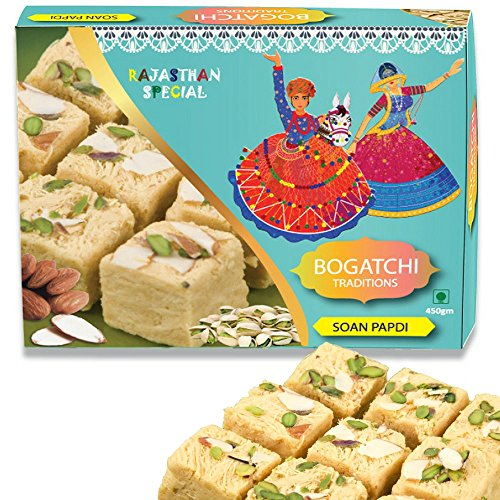 BOGATCHI Cultural Special Soan Papdi Premium Gift for Diwali, 450g
