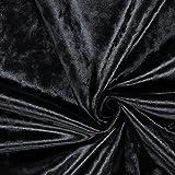 Ritz Felpilla Aterciopelada Liso Tela Para Cortinas Tapicería - Vendido por la Metros - Ónice (Negro)