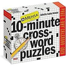 Mensa 10-minute Crossword Puzzles 2019 Calendar