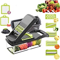 Vegetable Chopper Slicer, Food Chopper D L D Onion Dicer Veggie Slicer Cutter with Multi-Functional Interchangeable…