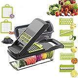 Vegetable Chopper Slicer, Food Chopper D L D Onion Dicer Veggie Slicer Cutter with Multi-Functional Interchangeable Blades Ch