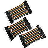 VIPMOON 120 10 cm Breadboard Dupont Jumper Bunte wires-40pin Buchse auf Stecker, 40pi Stecker auf Stecker, 40pi weiblich zu weiblich für Breadboard/Arduino basiert